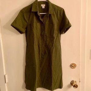 J. Crew Factory Dresses - NWOT J.Crew Factory Olive T-Shirt Dress